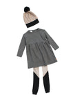 Tinycottons - vestido Easy Houndstooth, leggings Color Block y gorro de cuadros