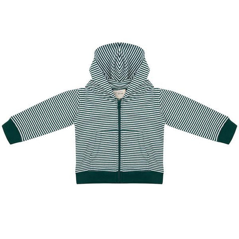 Sweater Hoodie Zipper - Forest Stripe de Little Indians