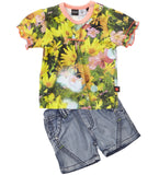 Molo Kids - Sam Shorts con Sunflower  tee