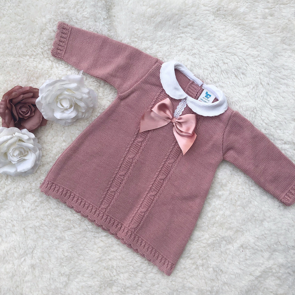Dusky pink knitted dress