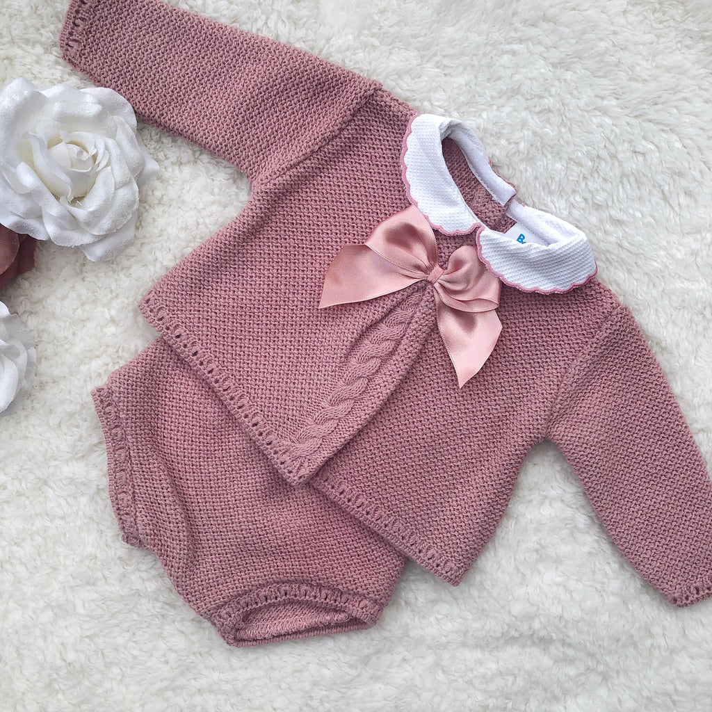 Dusky pink two piece