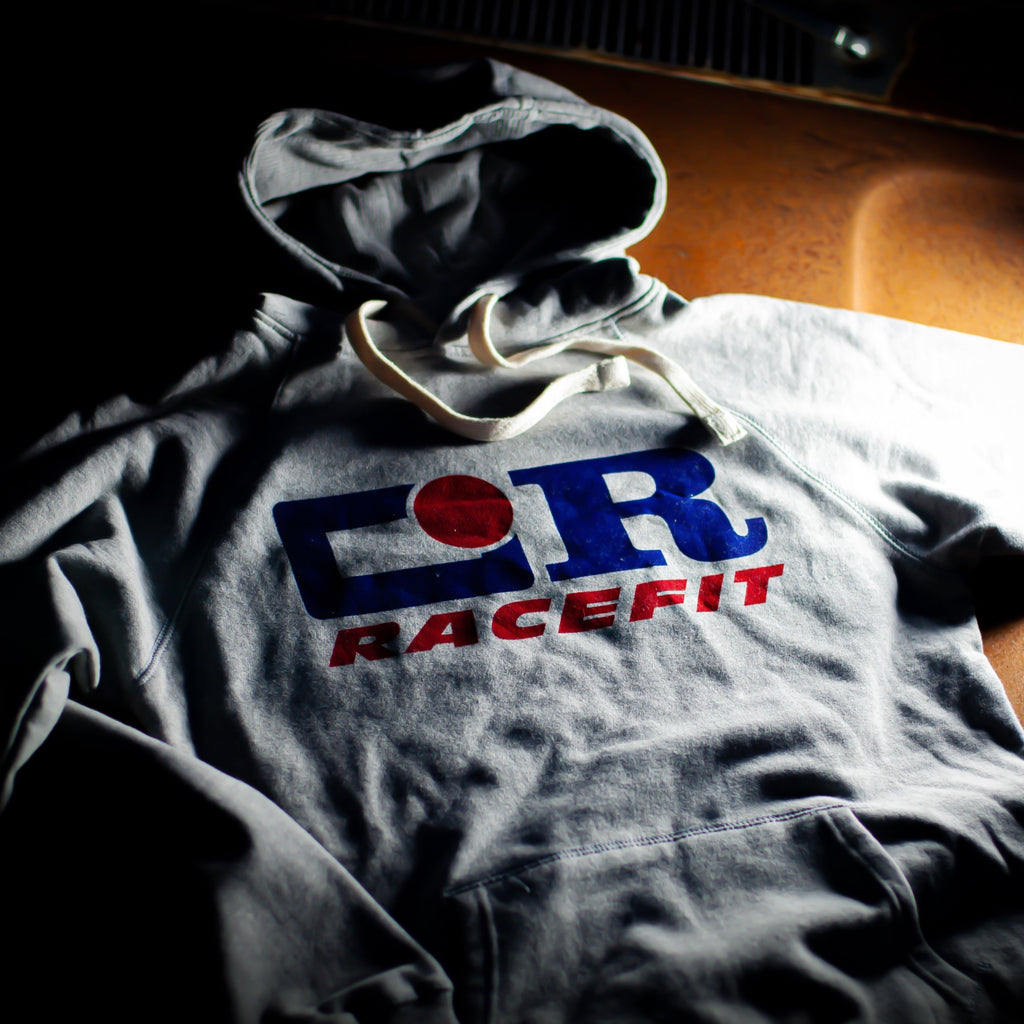 'Old Logo' Hooded Sweatshirt Grey Marl - RACEFIT