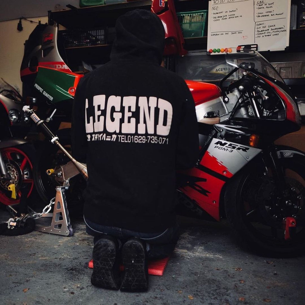 LEGEND Hooded Sweatshirt Black