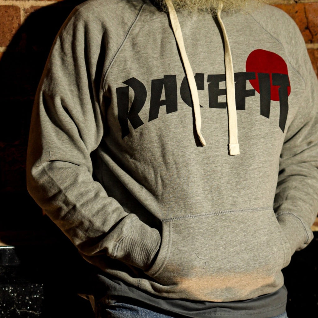 Racefit THRASH Hooded Sweatshirt Grey Marl