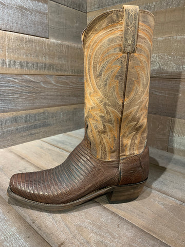 Lucchese Antique Tan Lizard Boot- M2904