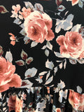Black Floral Tunic By VOLL