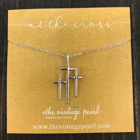 "The Vintage Pearl ""At The Cross"" Necklace"