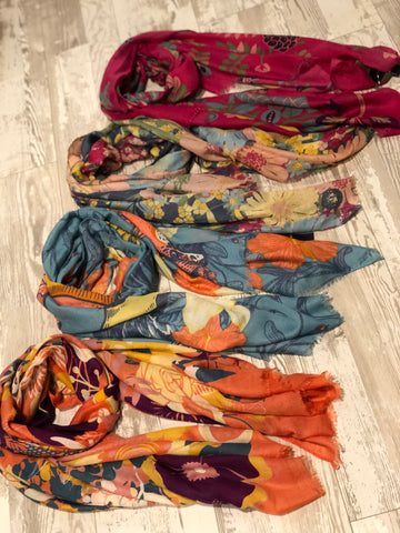 POWDER ASSORTED PRINT SCARF / SARONG
