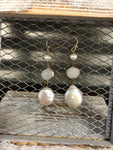 EASILY INFLUENCED DROP PEARL EARRINGS