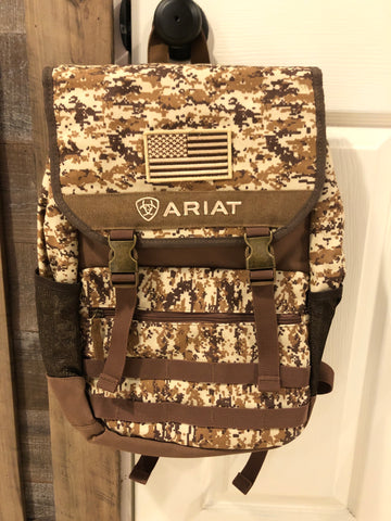 ARIAT CAMO FLAG BACKPACK