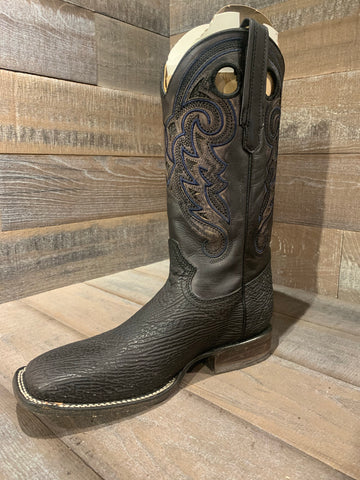 Corral Black Shark Vamp. Wide Square Toe- C2996