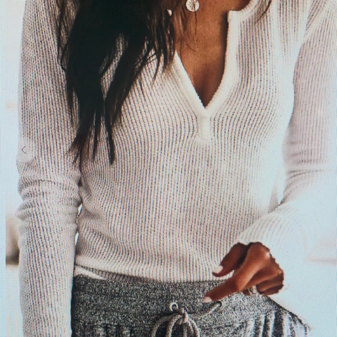Light Weight V-Neck Layering Sweater