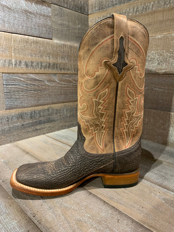 Lucchese Chocolate Sanded Shark Boot- M4333