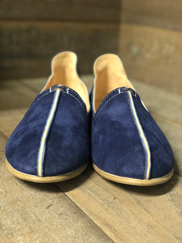 MAYAN ROOTS INGLIS NAVY SUEDE LOAFER