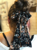 LOU AND CO SUMMER FLORAL SCARF-SCRUNCHIE