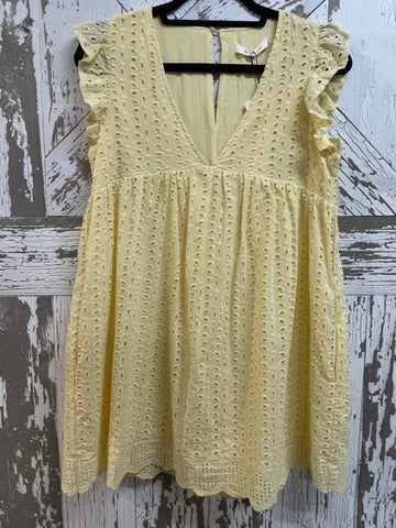 "Mustard Seed ""Good Day"" Eyelet Romper Dress"