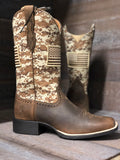 Ariat Round Up Patriot Sand Camo Print Boot 10023368