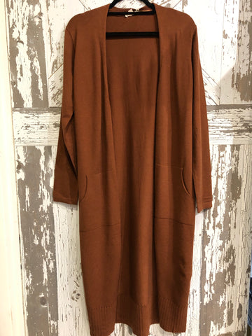 MYSTREE LONGLINE OPEN CARDIGAN