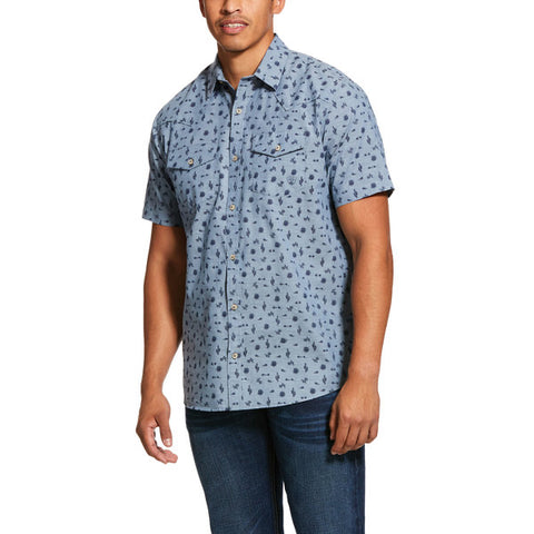 ARIAT MEN'S JYNWOOD RETRO SNAP SS SHIRT