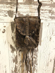 LEATHER IMPRESSIONS LEATHER CROSSBODY W/ FRINGE