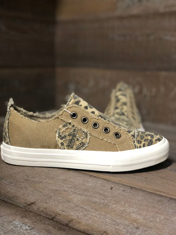 "GYPSY JAZZ ""ABSOLUTE PERFECTION"" LEOPARD PEACE SNEAKERS"