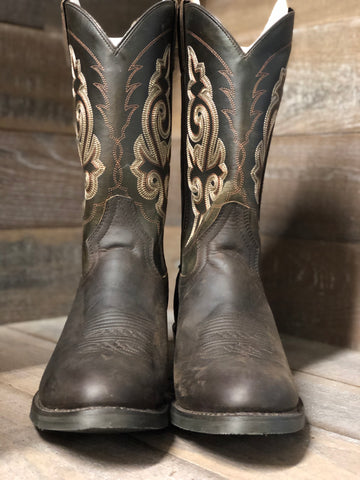 Double H Western Tan Leaf Boot- DH3255