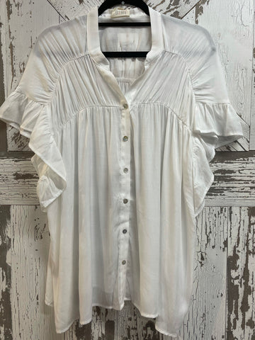 "BiBi ""Tender Love"" Button Front Blouse"