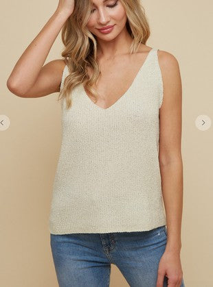 V-Neck Sweater Tank - aheadofthecurve-gifts