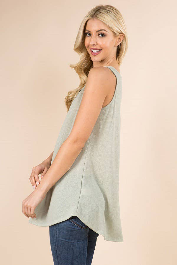 Button Down Tank - aheadofthecurve-gifts