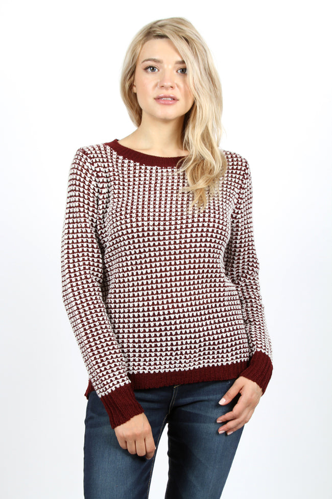 Houndstooth Pullover Sweater - aheadofthecurve-gifts