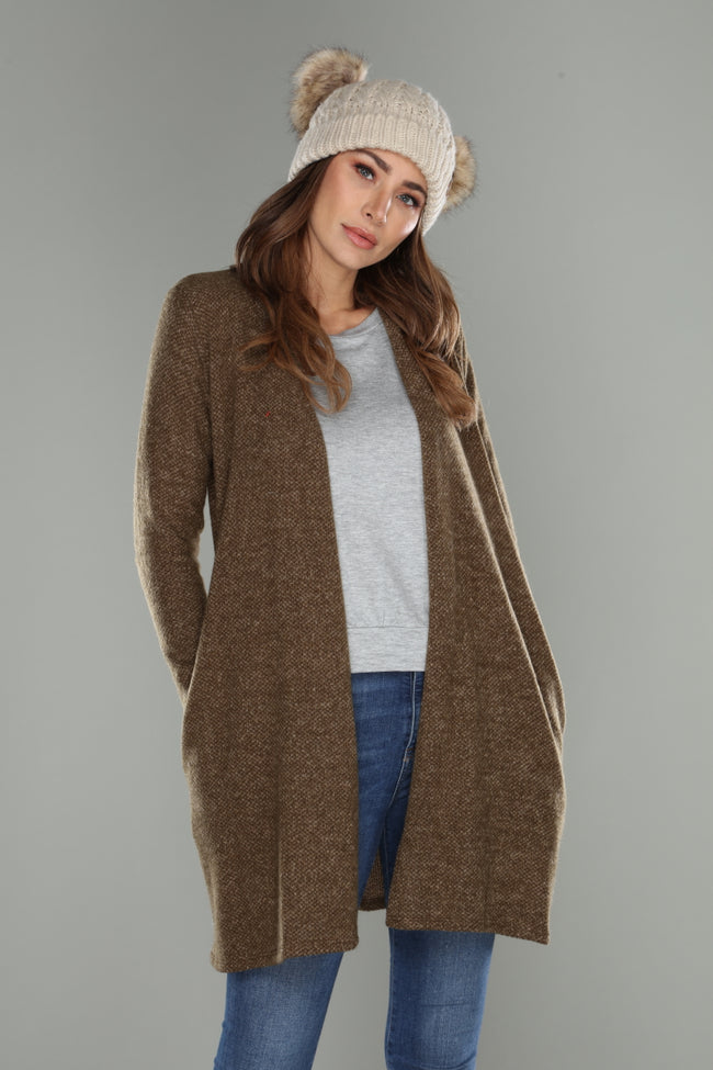 Textured Cardigan - aheadofthecurve-gifts