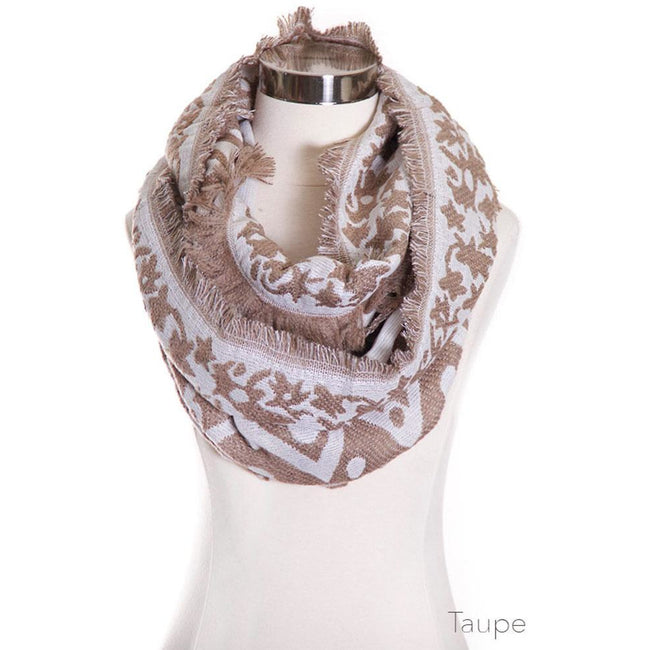 Multi Pattern Infinity Scarf - aheadofthecurve-gifts