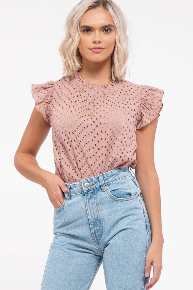 Eyelet Lace Top - aheadofthecurve-gifts