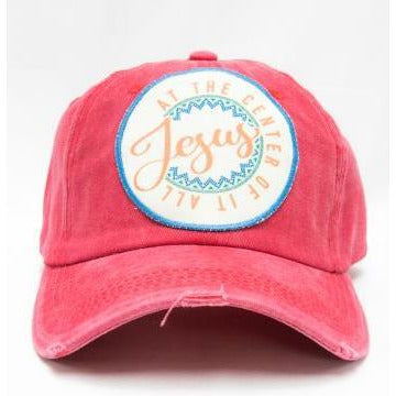 Jesus at the Center of it All Hat - aheadofthecurve-gifts