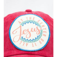 Load image into Gallery viewer, Jesus at the Center of it All Hat - aheadofthecurve-gifts