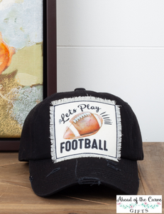 Let's Play Football Hat - aheadofthecurve-gifts