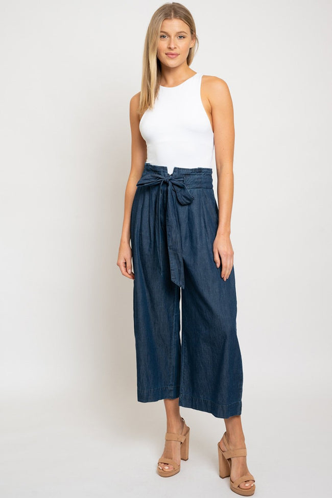 Wide Leg Cropped Denim - aheadofthecurve-gifts