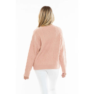 Brushed Knit Sweater - aheadofthecurve-gifts