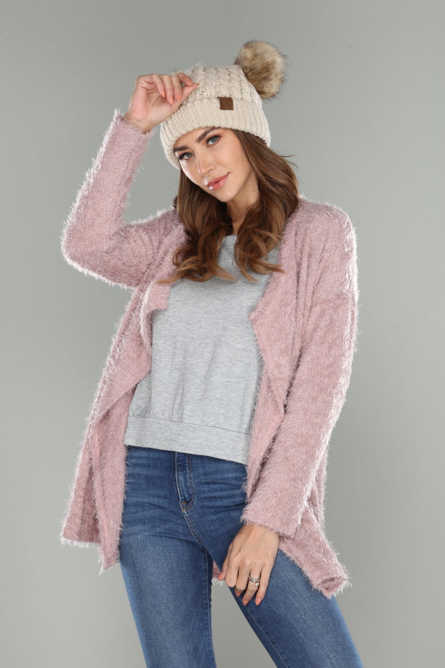Fuzzy Cardigan - aheadofthecurve-gifts