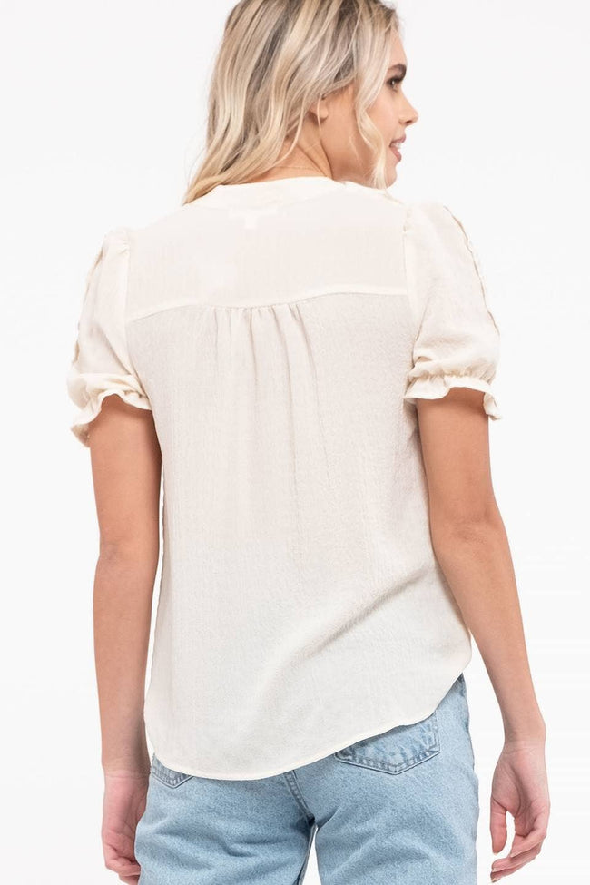 Puff Sleeve Top - aheadofthecurve-gifts
