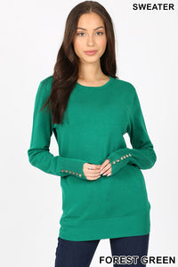 Long Sleeve Button Detail Top - aheadofthecurve-gifts
