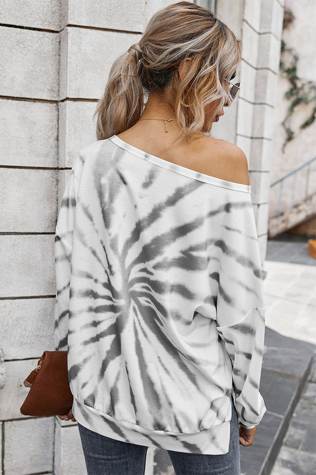 Round Neck Tie Dye Top - aheadofthecurve-gifts