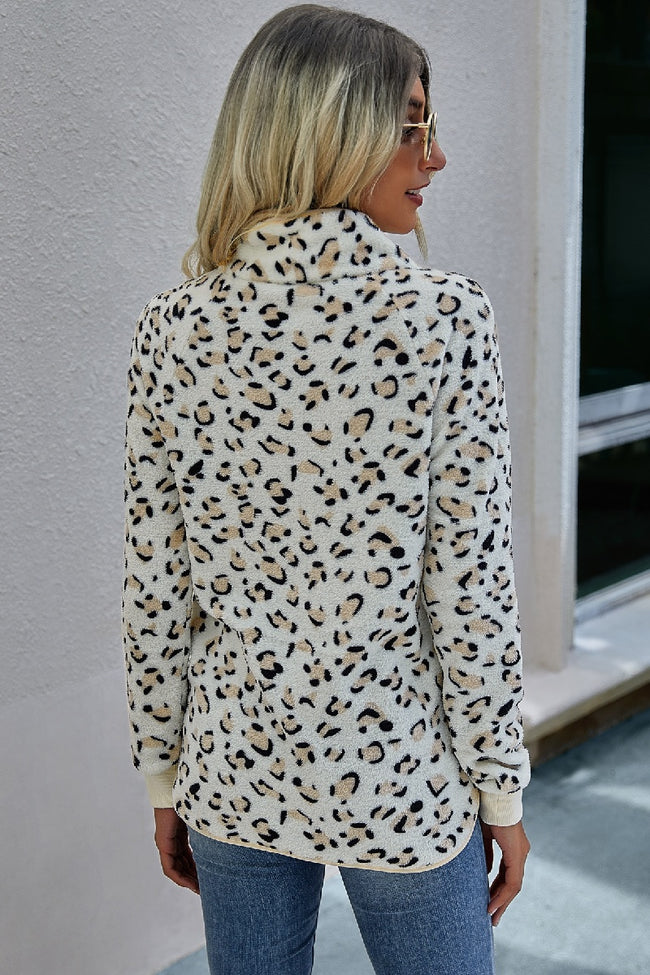 Leopard Fleece Pullover - aheadofthecurve-gifts