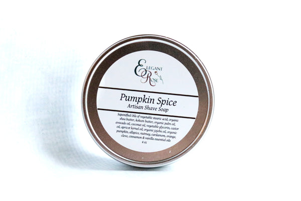 Pumpkin Spice Artisan Shave Soap, Natural Shaving Soap, Vegan Natural Shaving Soap