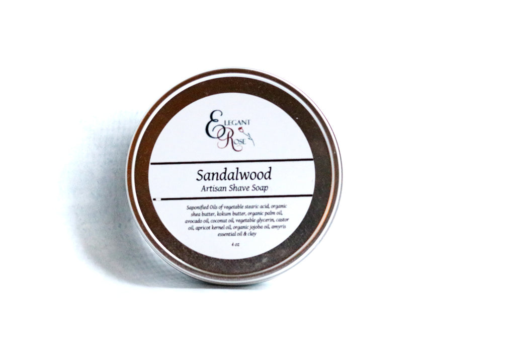 Sandalwood Artisan Shave Soap, Natural Shaving Soap, Vegan Natural Shaving Soap
