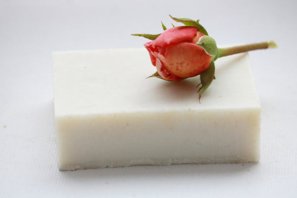 Rose Cardamom Babassu Oil Shampoo & Body Bar, No coconut, no palm