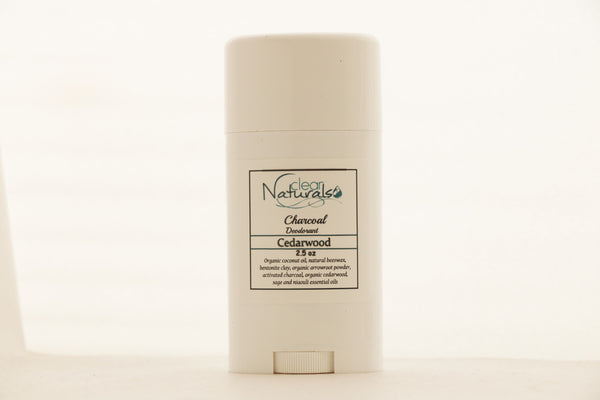 Natural Deodorant - Cedarwood Deodorant with Activated Charcoal - Clear Naturals