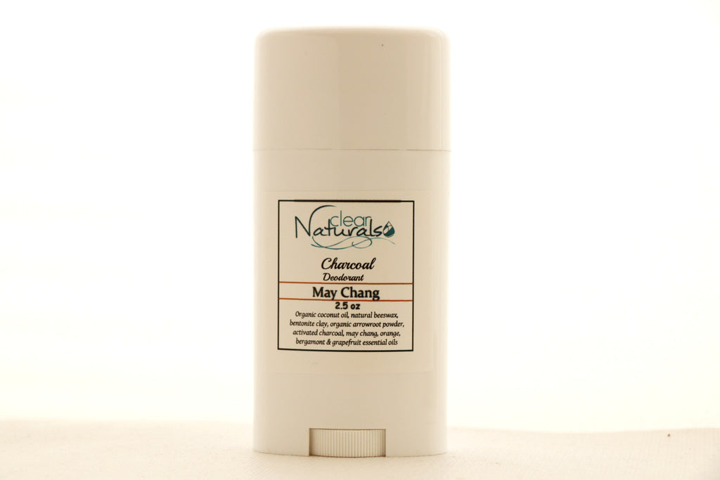 Natural Deodorant - May Chang Deodorant with Activated Charcoal - Clear Naturals