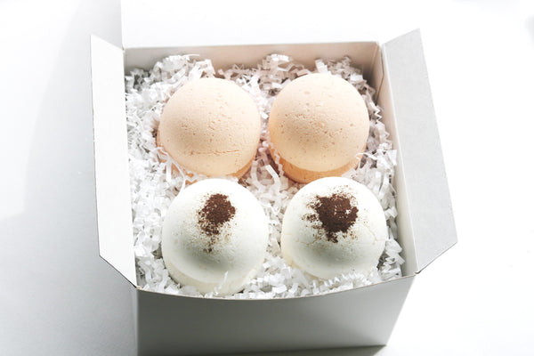 LIMITED EDITION: Fall Bath Bomb Set, Pumpkin Spice, Spiced Vanilla, Bath Bomb Gift Set, Spa Gift Set, Bath Fizzy