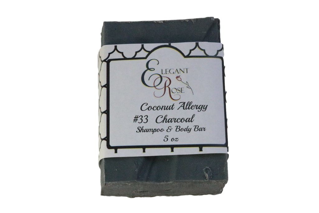 #33 Coconut Allergy Soap - Unscented Charcoal